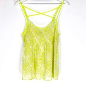 PRINCESS VERA WANG Tribal Geometric Sheer Neon